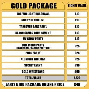 Sunnybeachtakeover gold package